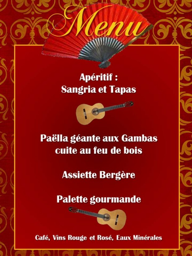 Menu Paella